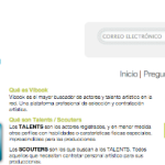 Vibook el buscador online de actores y artistas