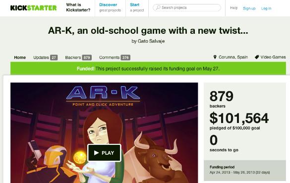 El videojuego español AR-K logra 100.000 dólares a través de Kickstarter