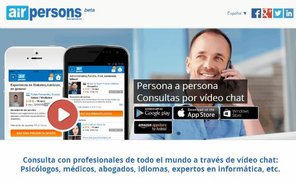 AirPersons, app para que los abogados puedan ofrecer consultas legales por video-chat