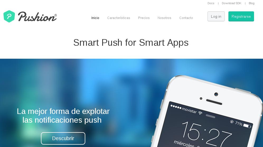 Pushion, servicio de mensajes push para apps iOS, Android y Windows