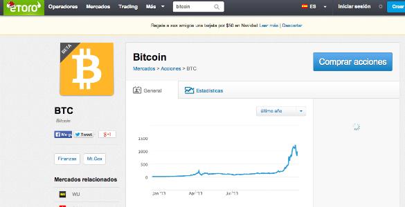 Con eToro ya es posible invertir en Bitcoin a través de derivados