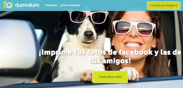 DumDum ofrece nuevas formas de imprimir las fotos de Facebook