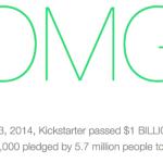 Kickstarter alcanza el hito del billón de dólares