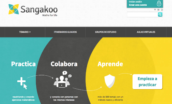 Sangakoo, la red social que ayuda a aprender matemáticas