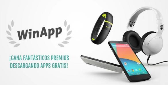 En WinApp la gente participa en sorteos con puntos que gana descargando apps