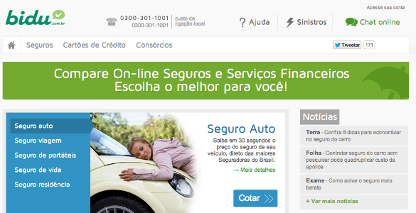 Inversión de 8,9 millones de dólares en el comparador de seguros brasileño Bidu