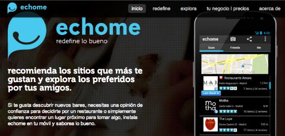 Echome, la app de recomendaciones sociales