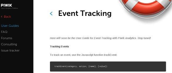 La aplicación de estadísticas web Piwik añade seguimiento de eventos