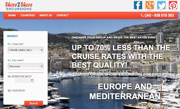 Venta online de excursiones con guía por Europa para grupos de cruceristas