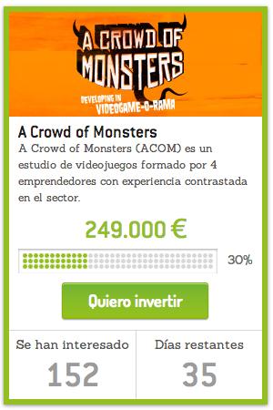 Entrevistamos a Ramon Nafria fundador de A crowd of Monster sobre su campaña de equity crowdfunfing