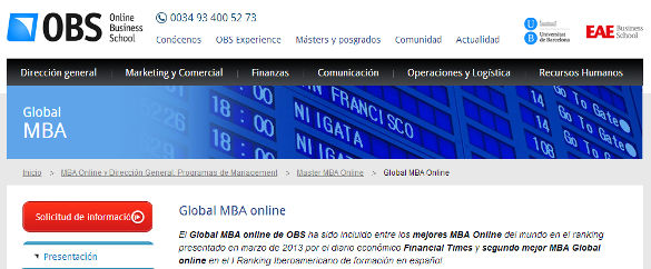 Global MBA online de OBS
