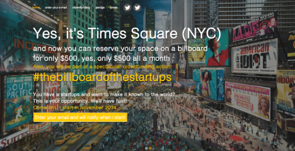 The Billboard of the Startups