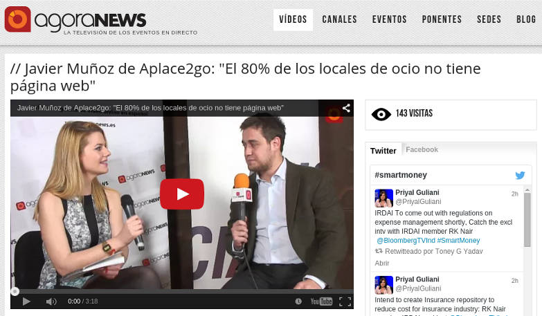 Entrevista a Javier Muñoz de Aplace2Go en Smart Money