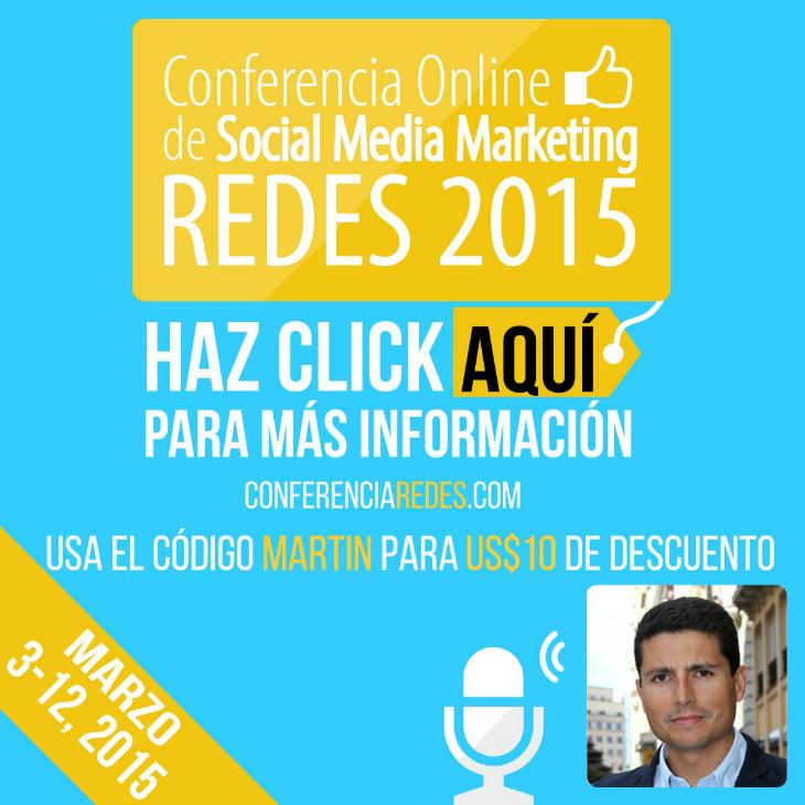 Participo como ponente de crowdfunding en la conferencia Redes 2015