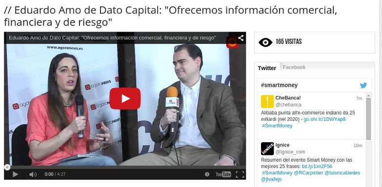 Entrevista a Eduardo Amo de Dato Capital en Smart Money