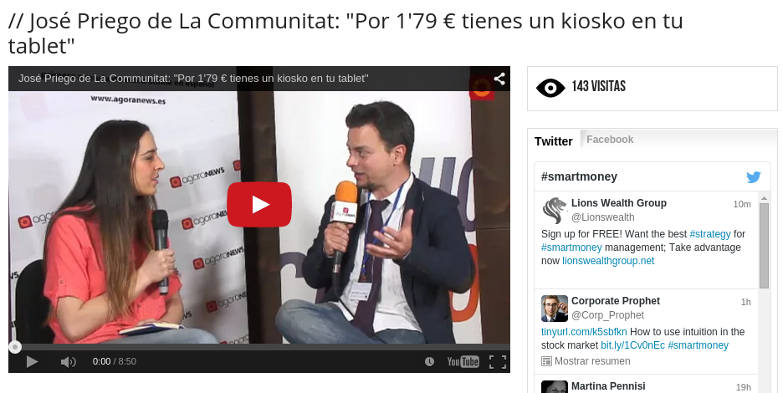 Entrevista a Javier Priego de La Communitat en Smart Money