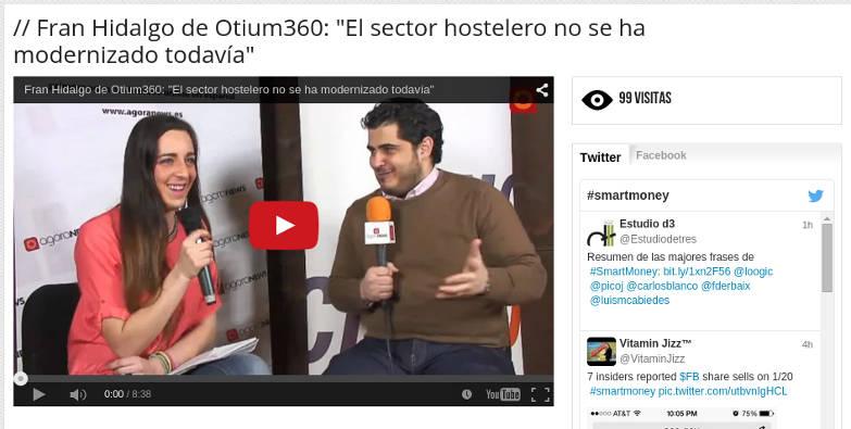 Entrevista a Fran Hidalgo de Otium360 en Smart Money