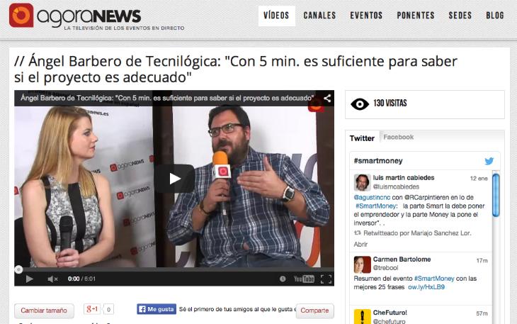 Entrevista a Ángel Barbero de Tecnilógica en Smart Money