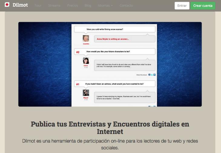 Dilmot la aplicación que te ayuda a crear encuentros digitales