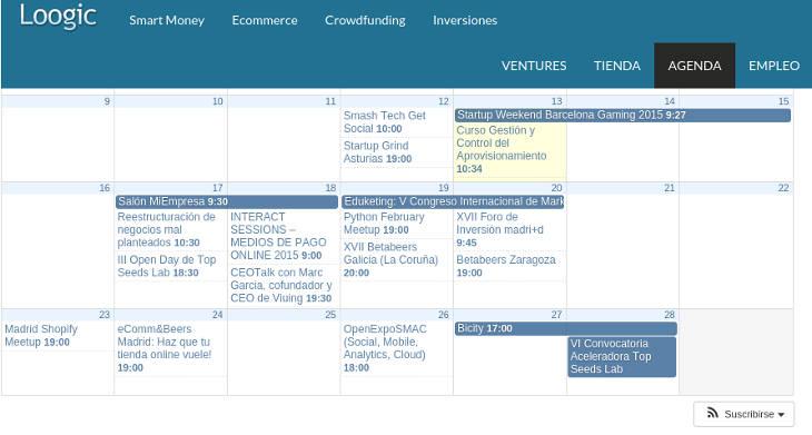 Eventos semana 16 de febrero 2015