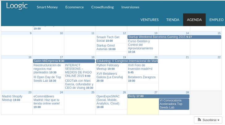 Eventos semana 23 de febrero de 2015