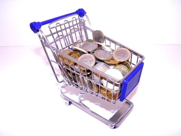 Carro tienda online dinero