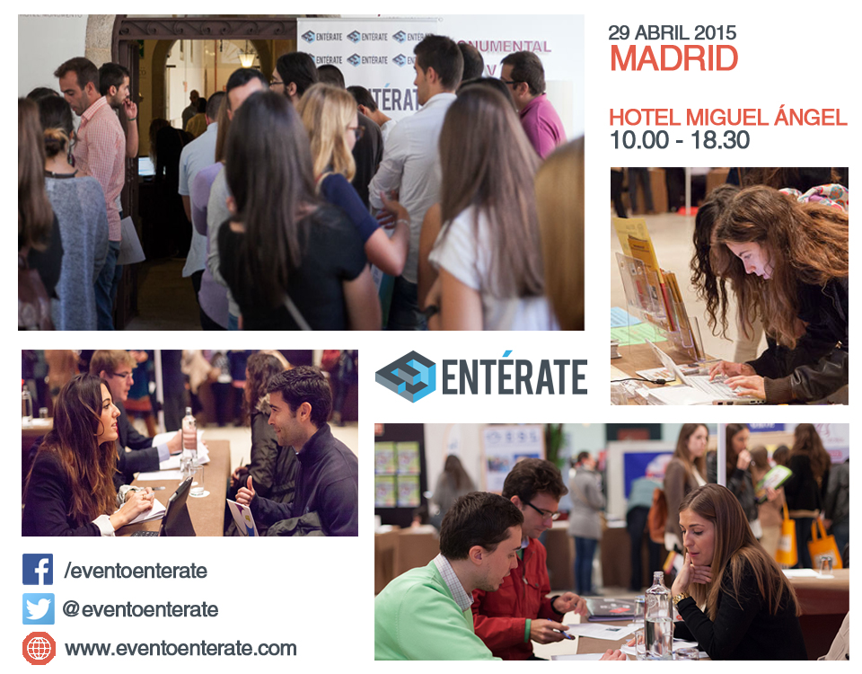 1.000 ofertas de empleo para jóvenes. Mañana en Evento Entérate Madrid