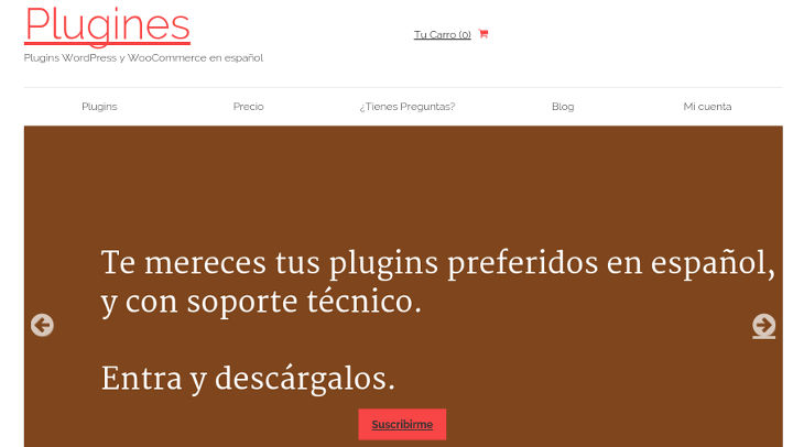 Plugines.com, nuevo repositorio de plugins WordPress y Woocommerce en español