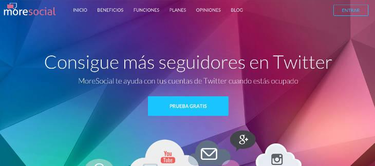 Moresocial para conseguir más seguidores en Twitter