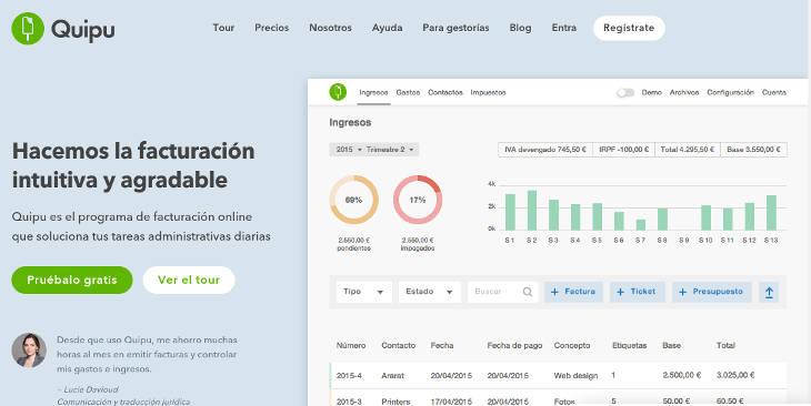 Quipu, aplicación de facturación online