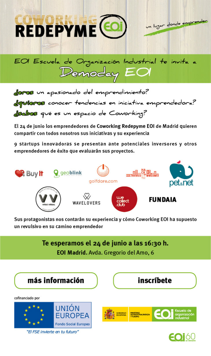 Coworking Redepyme EOI Madrid celebra su primer Demoday