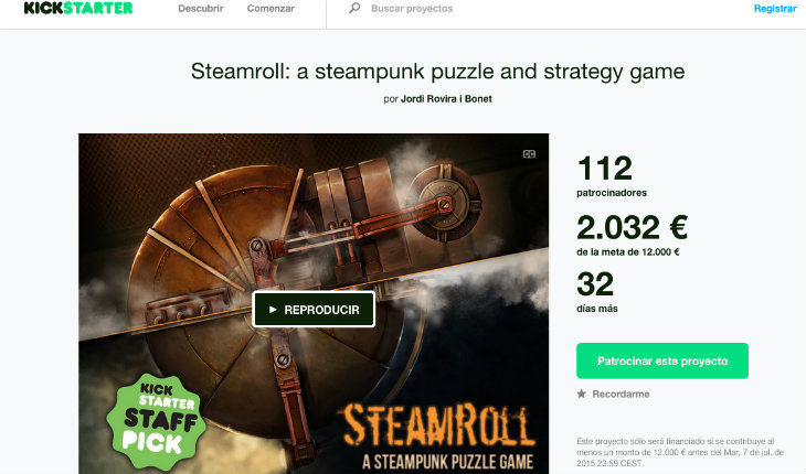 El juego Steamroll en busca del éxito con su campaña de crowdfunding