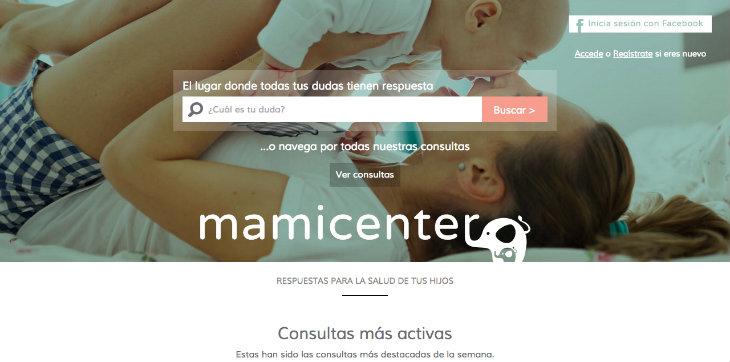 Nace Mamicenter para ayudar a resolver dudas sobre pediatría