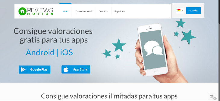 Reviews Motion ayuda a conseguir reviews para apps