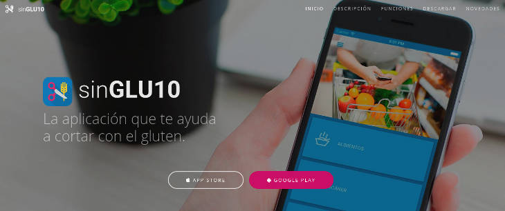 SinGLU10, app para celíacos