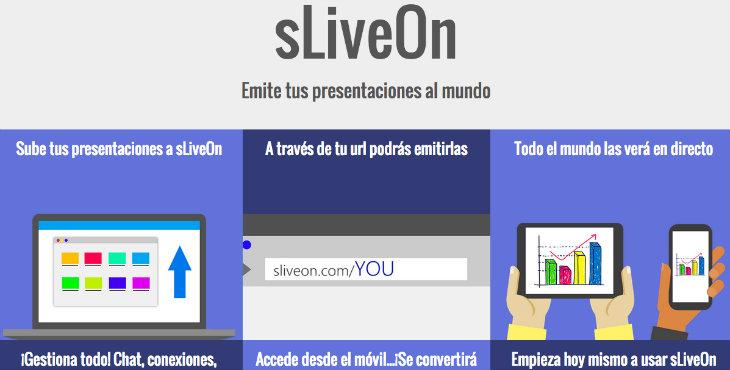 sLiveOn, una solución online para las presentaciones