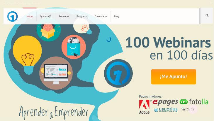 100 webinars en 100 días para aprender a emprender