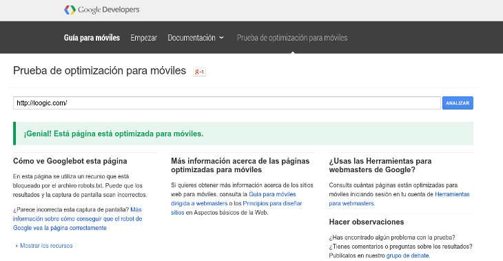 Google envía avisos a webs que no cumplen sus criterios de movilidad