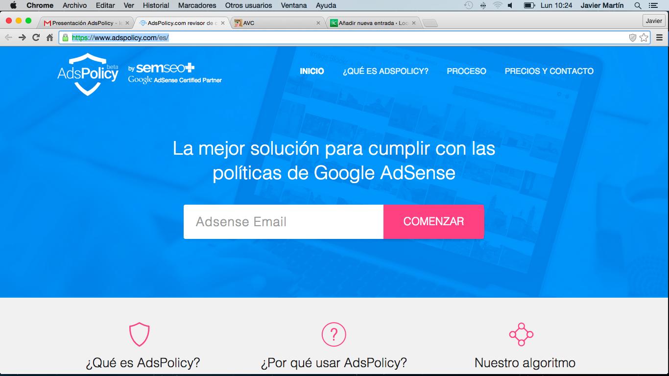 Adspolicy, una herramienta pensada para negocios basados en Google Adsense