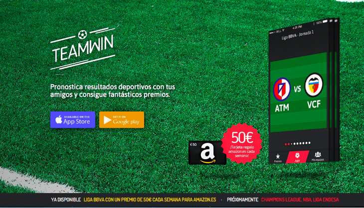 Teamwin, la app para pronosticar resultados deportivos