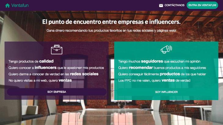Ventafun nuevo punto de encuentro entre empresas e influencers