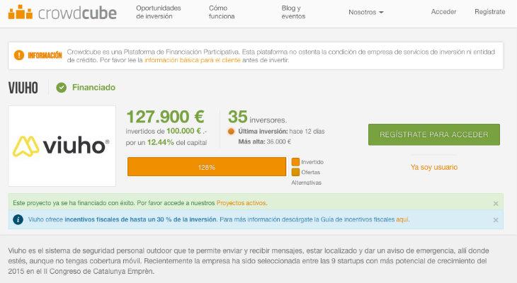 Viuho realiza con éxito una ronda de equity crowdfunding