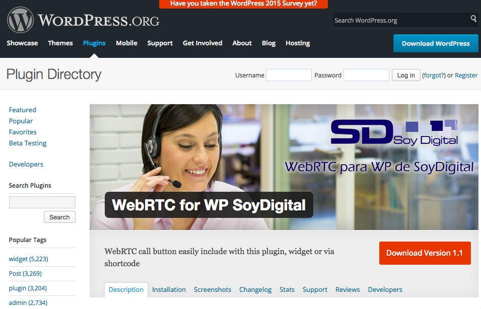 SoyDigital crea un plugin de WebRTC para WordPress