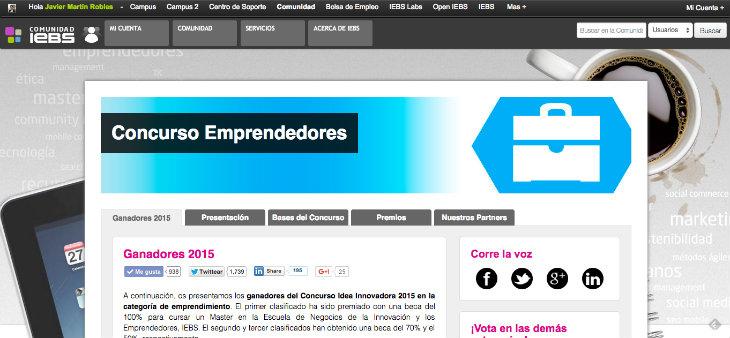 Ganadores del concurso de Emprendedores de IEBS
