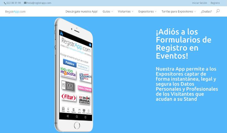 RegistrApp quiere acabar con los formularios de registro en las ferias