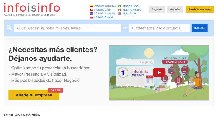 Infoisinfo, el buscador de empresas que se expande por todo el mundo