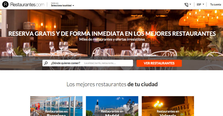 Atresmedia invierte en Restaurantes.com a través de Media for Equity