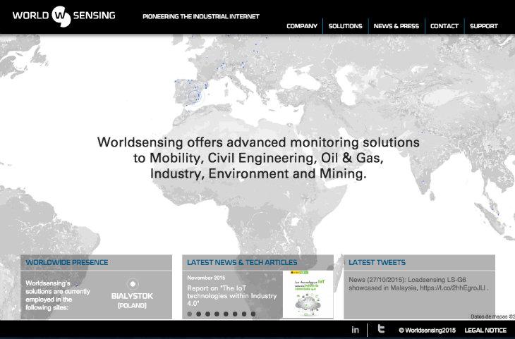 WorldSensing realiza una nueva ronda de inversión