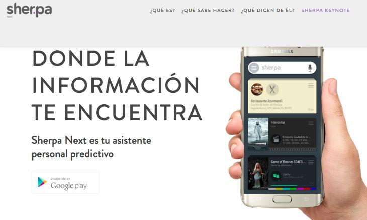 Sherpa Next para el iPhone