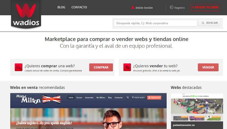 Wadios vende tu web o tienda online